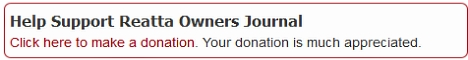 Please help support Reatta Owners Journal
