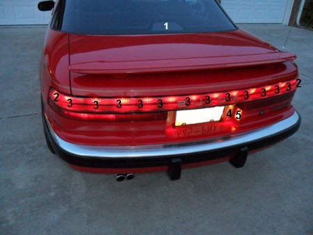rear exterior lights